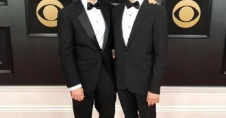 Graduate composition student Pascal Le Boeuf with his brother Remy Le Boeuf at the Recording Academy / GRAMMYs this past