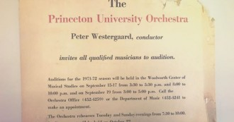 #TBT! Beginning this fall, Princeton University Orchestra's season opening concerts will be known as the Peter Westergaard
